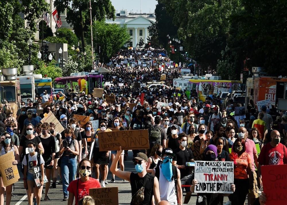 367316_Protestas en la Casa Blanca / Foto/ AFP