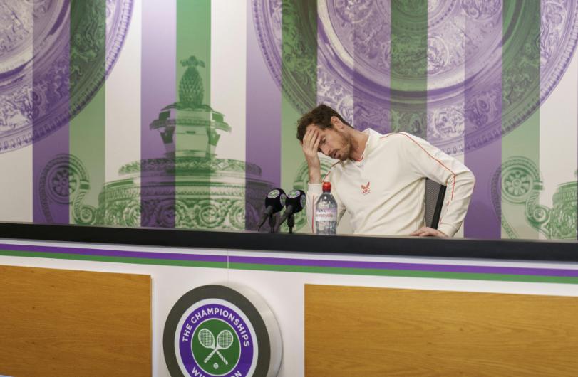 Andy Murray fue eliminado en la tercera ronda de Wimbledon.