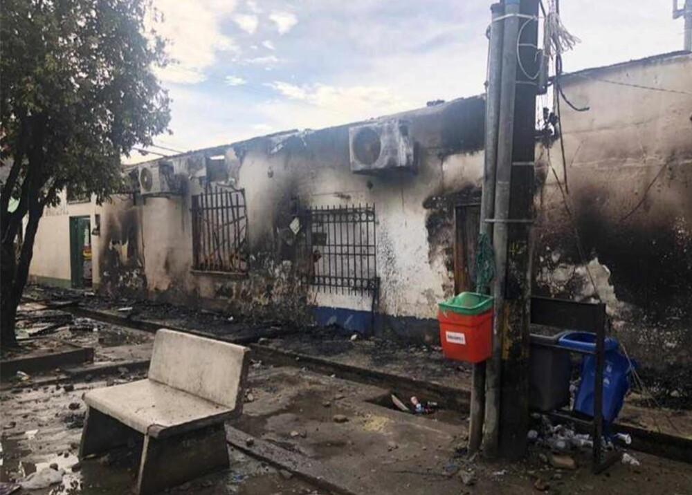 347160_BLU Radio. Así quedó la Alcaldía de Nechí tras incendio provocado en protestas / Foto: Cortesía