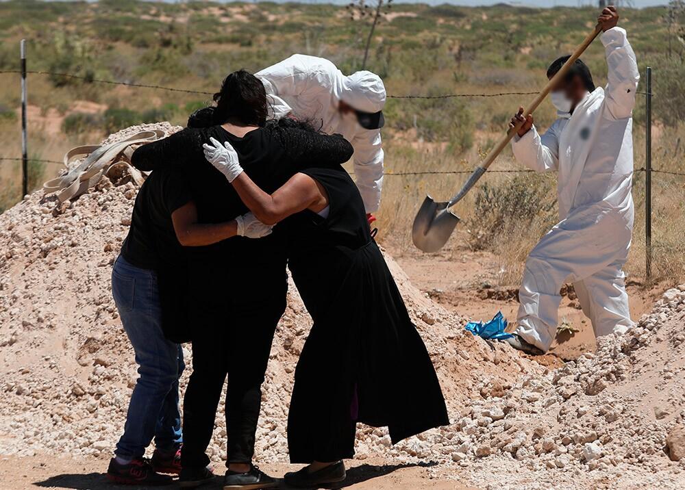 366186_Funeral durante pandemia del coronavirus // Foto: AFP