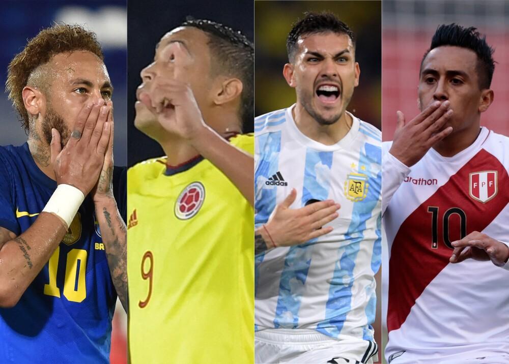 Selecciones de Brasil Colombia Argentina y Perú Foto AFP.jpg