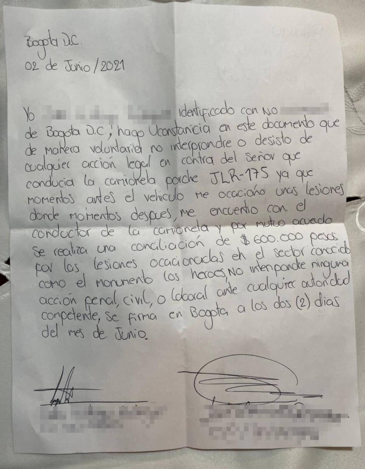ACUERDO ENTRE MANIFESTANTE Y EL DUEÑO DEL PORSHE.jpeg