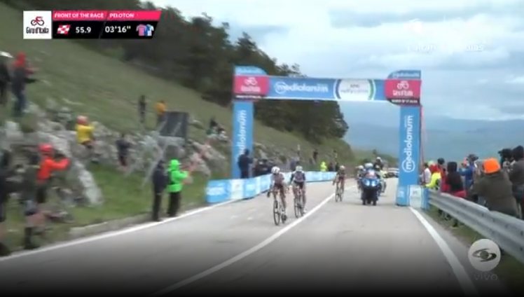Segundo premio de montaña de la etapa 9 del Giro de Italia