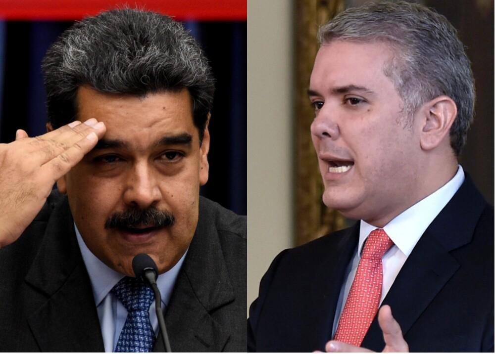 Nicolás Maduro - Iván Duque. Foto: AFP