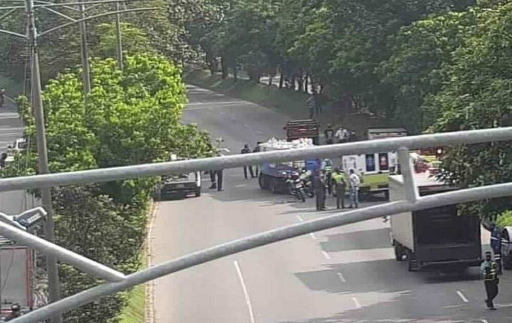 accidente múltiple en Medellín