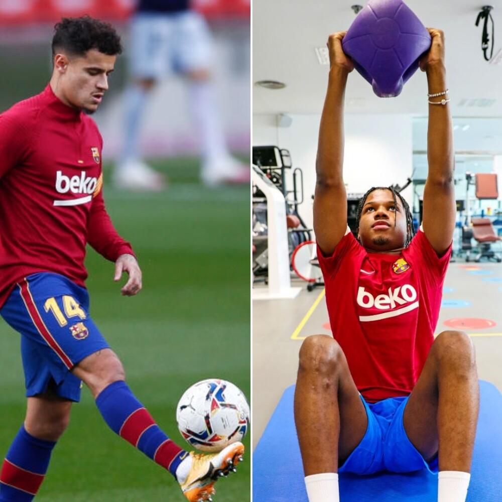 Coutinho y Ansu Fati, jugadores del Barcelona. Getty Images.jpg
