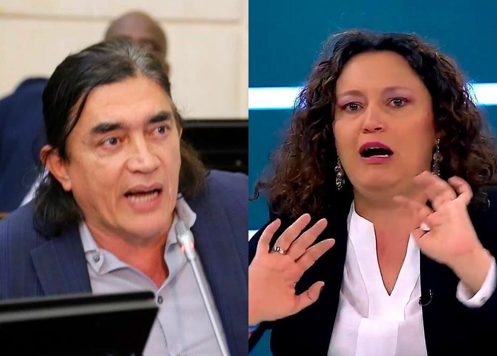 Gustavo Bolívar y Angélica Lozano