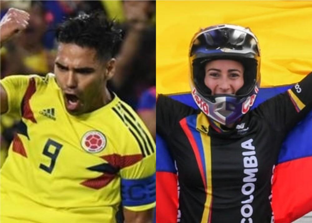366174_Radamel Falcao y Mariana Pajón // Foto: AFP
