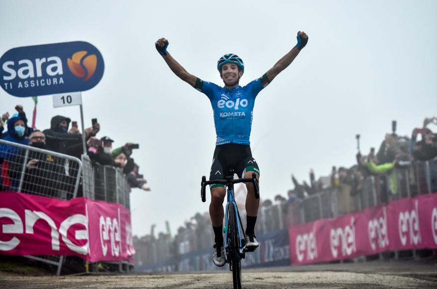 Lorenzo Fortunato fue el ganador de la etapa 14 del Giro de Italia 2021.