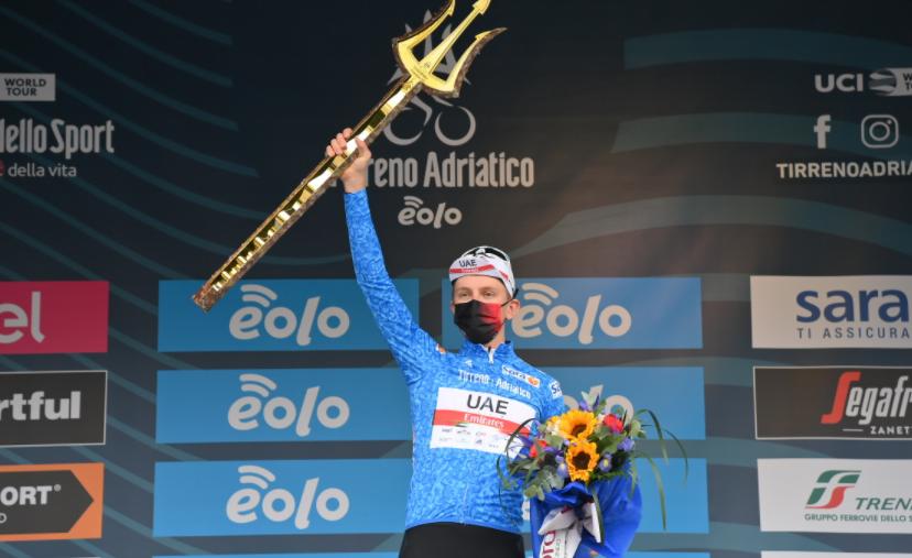 Tadej Pogacar se coronó campeón de la Tirreno-Adriático.