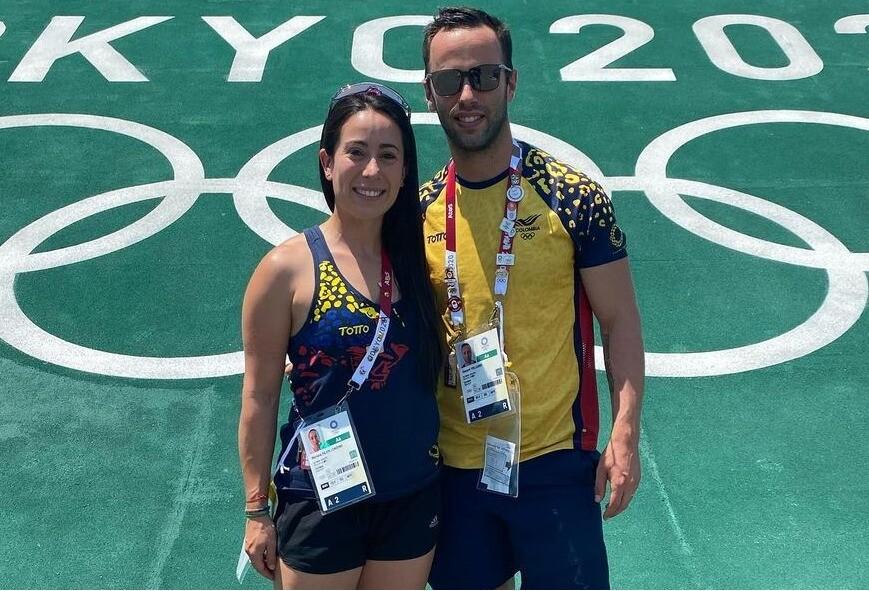 Mariana Pajón y Vincent Pelluard