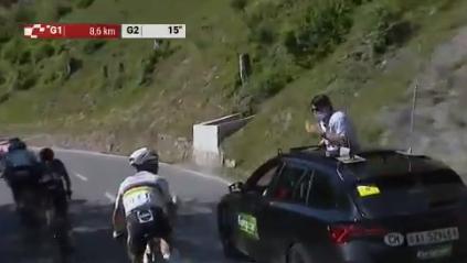 Julian Alaphilippe fue penalizado con 20 segundos en la etapa 5 de la Vuelta a Suiza.