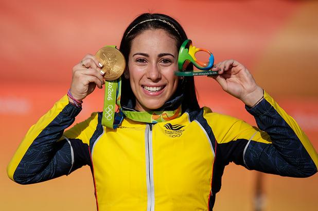 Mariana Pajón le ha dado dos medallas de oro a Colombia en la historia de los Juegos Olímpicos.