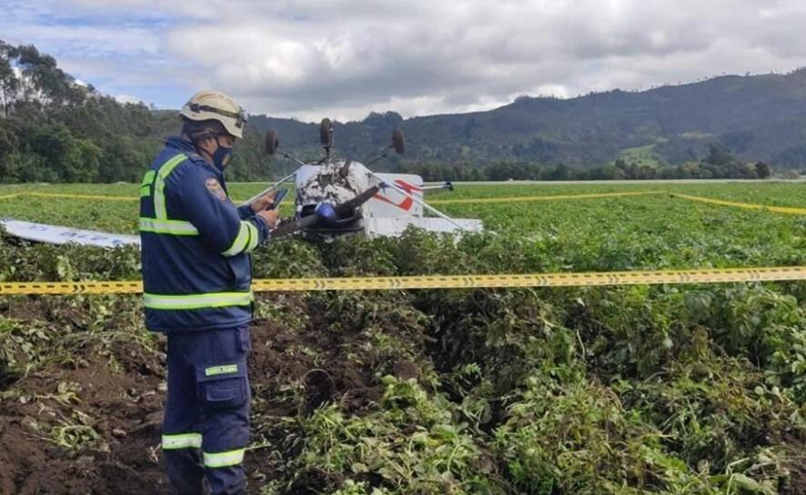 Avioneta aterrizó de emergencia en Tenjo