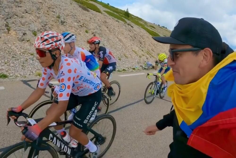Fanático le declaró su amor a Nairo Quintana en el Tour.jpg