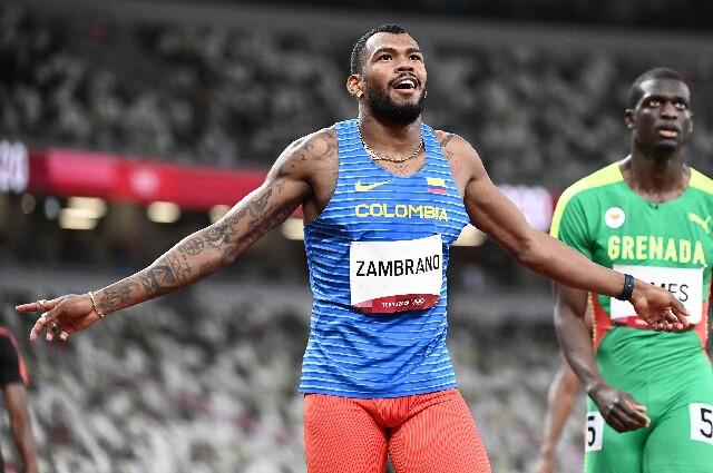 Anthony Zambrano, en los Juegos Olímpicos de Tokio 2020