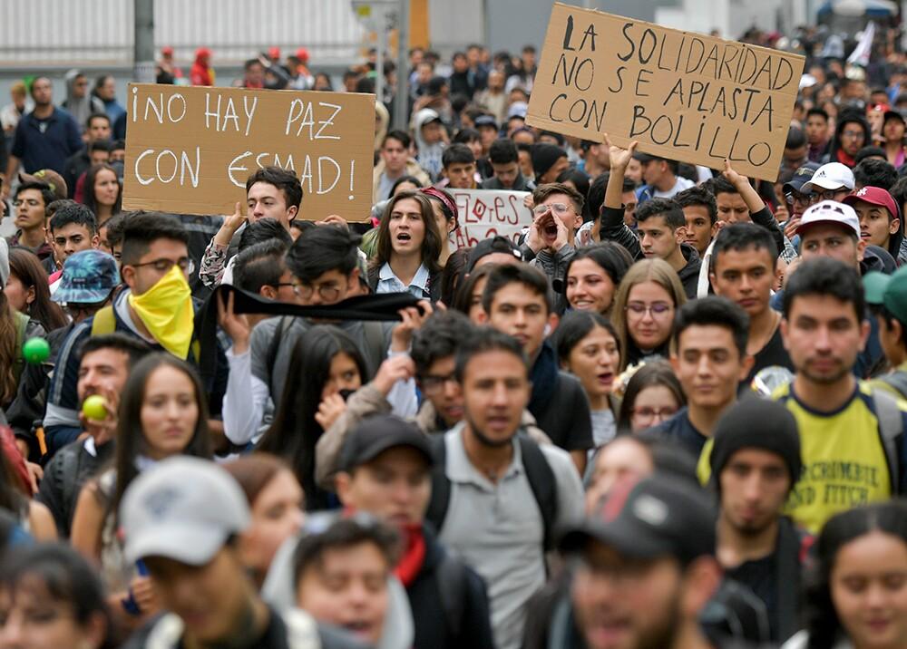 344737_Marcha estudiantil en Bogotá // Foto: AFP