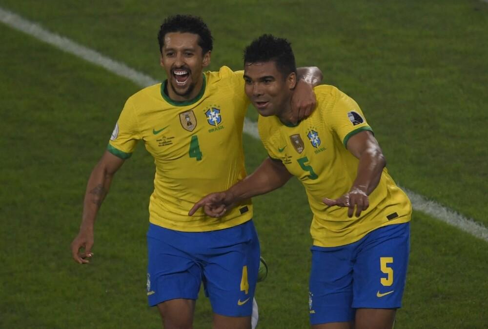 Casemiro anotó gol frente a Colombia. Foto AFP