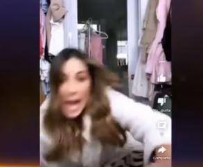 Carolina Soto cuando cayó al piso.JPG