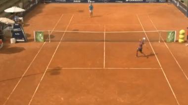 Renzo Olivo se volvió viral por su reacción al perder en el Challenger de Perugia.