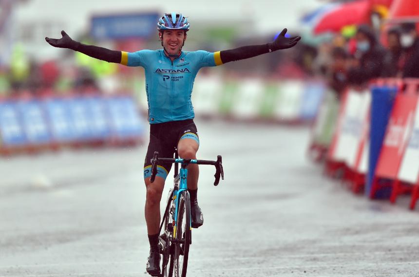 Ion Izagirre, ganador de la etapa 6 de la Vuelta a España 2020.