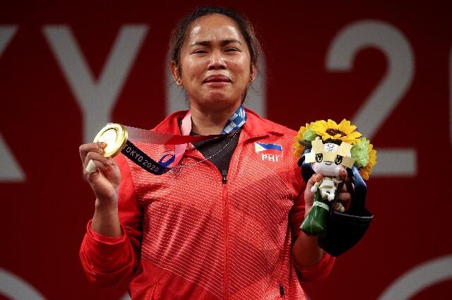 Hidilyn Diaz, en los Juegos Olímpicos de Tokio