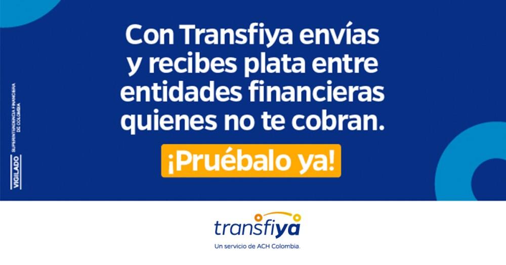 Transfiya, un servicio de traslados interbancarios que permite enviar y recibir plata desde su celular