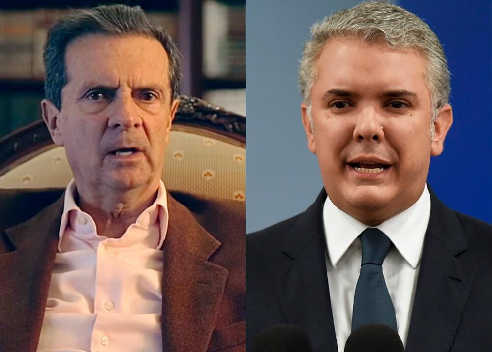 Fernando Londoño Hoyos e Iván Duque