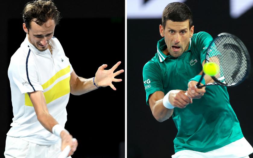 Daniil Medvedev y Novak Djokovic jugarán la final del Abierto de Australia.