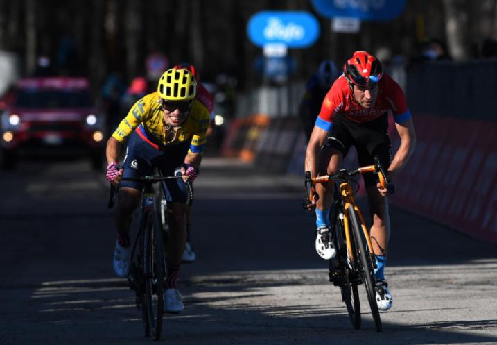 Sergio Higuita fue tercero en la etapa 4 de Tirreno-Adriático. Getty Images