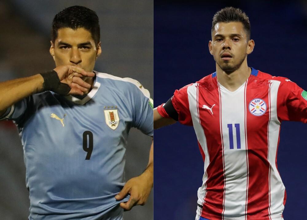 Selección de Uruguay y Paraguay Foto AFP.jpg