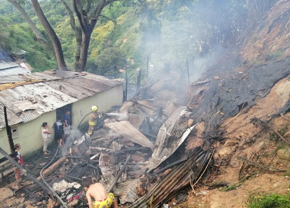 Incendio en el norte de Bucaramanga