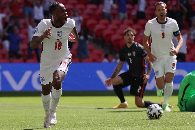 Raheem Sterling en Inglaterra contra Croacia
