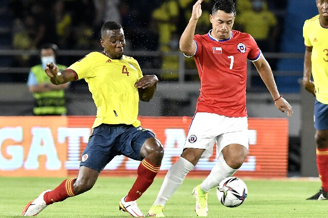 Carlos Cuesta, con la Selección Colombia