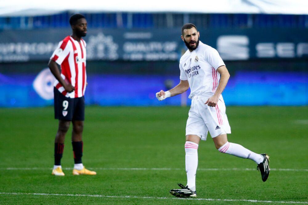 Benzema - Real Madrid v Athletic Club - Supercopa de Espana Semi Final