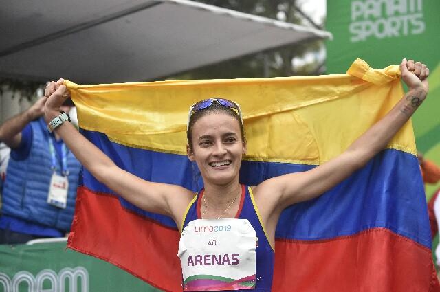 Sandra Arenas, atleta colombiana