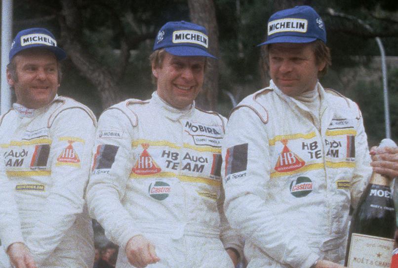 Hannu Mikkola (centro) falleció a los 78 años.