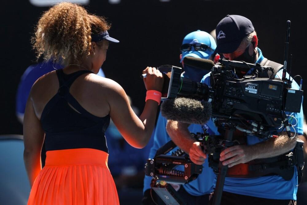 Naomi Osaka en el Abierto de Australia. Foto AFP