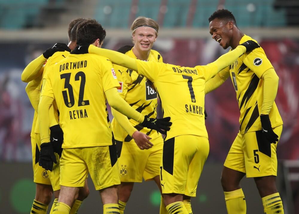 Dortmund SAncho Haaland AFP.jpg