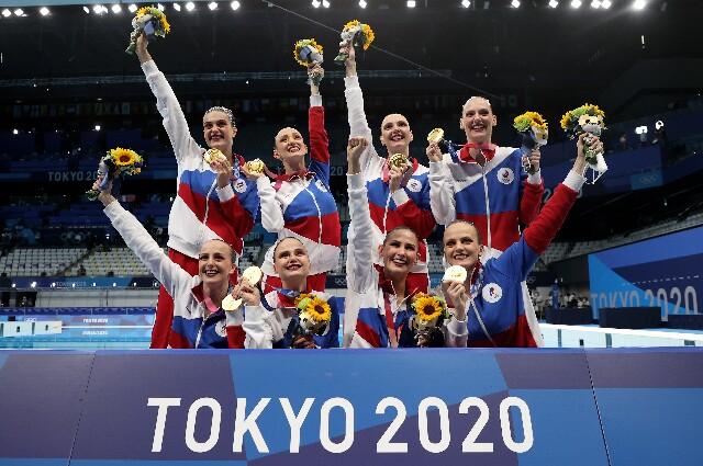 Rusia, en natación sincronizada de los Juegos Olímpicos de Tokio 2020