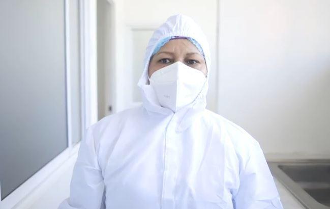 Verónica Machado será la primera persona en recibir la vacuna contra el coronavirus en Colombia. Foto captura video Presidencia.JPG
