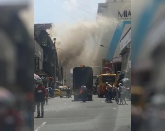 conato de incendio en el centro de Medellín.