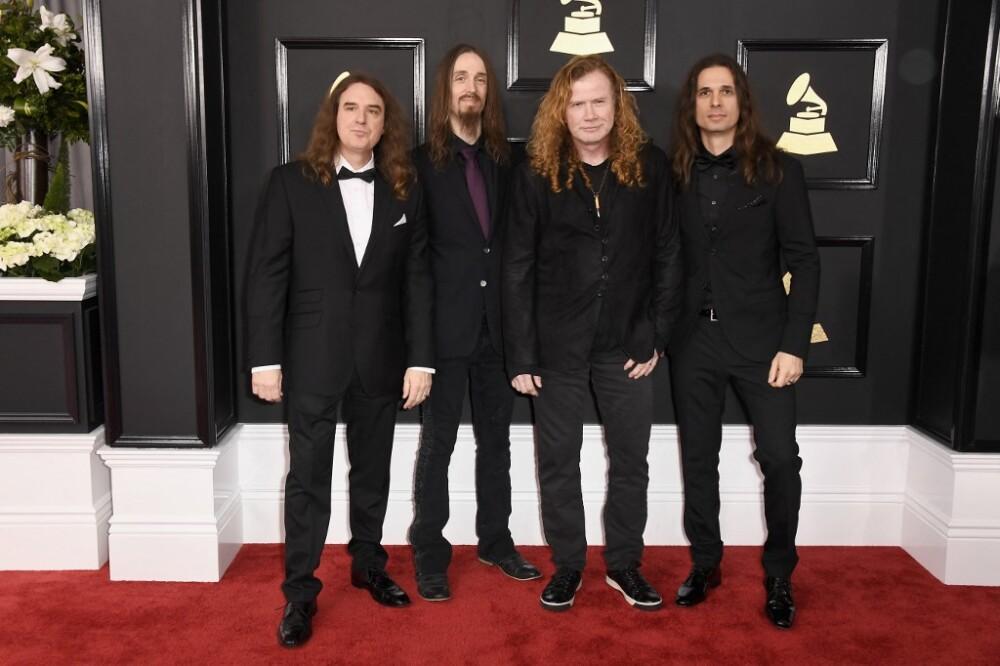 Integrantes de la banda de metal Megadeth