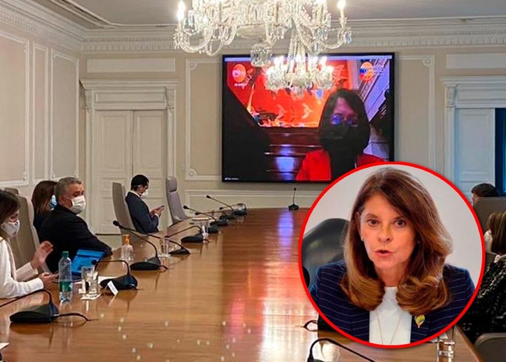 371715_Polémica por video publicado por vicepresidenta en redes // Fotos: Twitter Diego Molano - Vicepresidencia