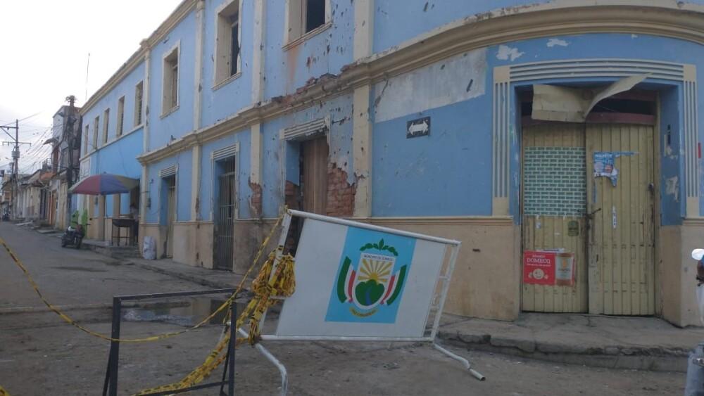 Daños de carro bomba en Corinto, Cauca