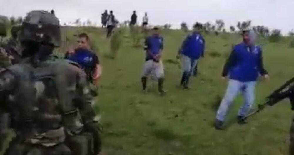 Soldado herido en Caloto.
