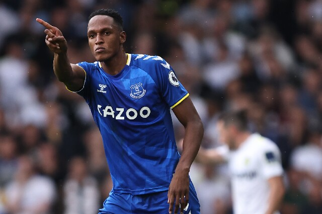 Yerry Mina, en Leeds United vs. Everton