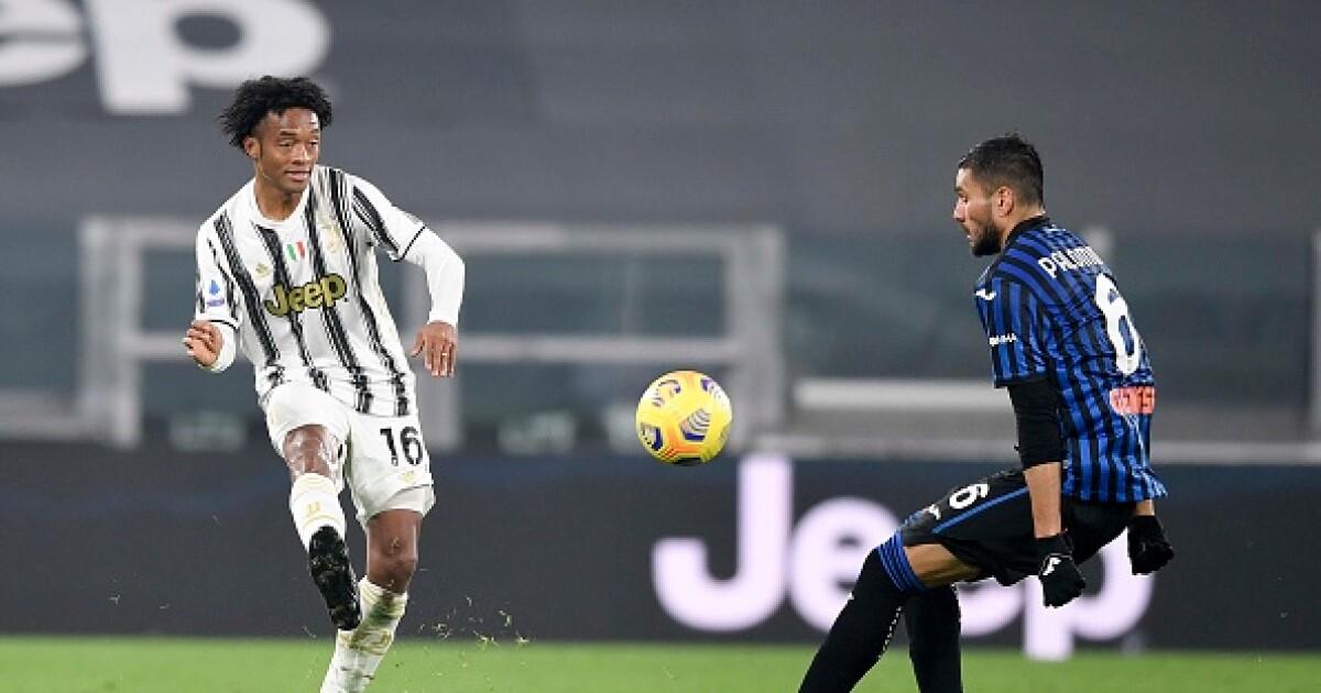 Juan Guillermo Cuadrado irá al banco de suplentes con Juventus, frente a Parma
