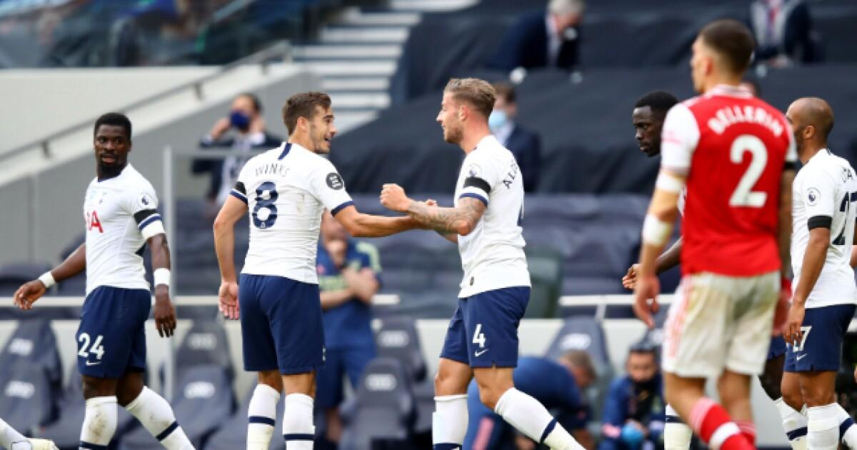 Dávinson Sánchez, titular en la victoria del Tottenham 2-1 sobre Arsenal, por liga
