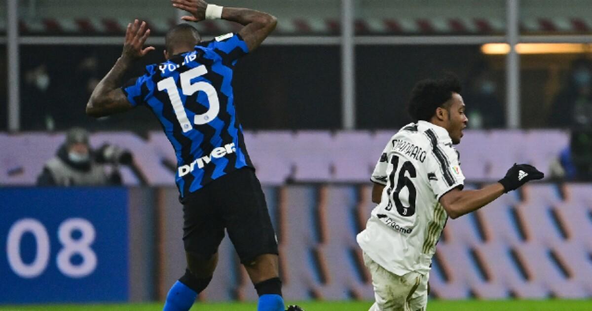 Juan Guillermo Cuadrado, activo, luchador y macho en el 2-1 de Juventus sobre Inter